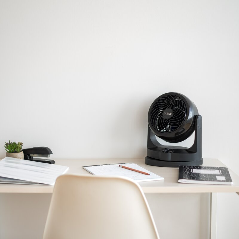 Dorm Office Black Mini Fan,Fan Small Size USB Table Desk Personal Fan,Ideal For The Home /& More