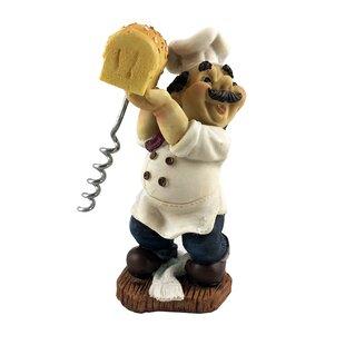 Fat Chef Italian Baker Holding Bread Figurine