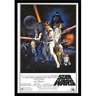 Star Wars A New Hope Framed Graphic Art