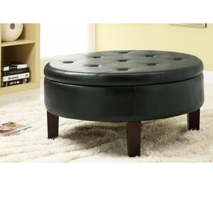 Damboise Leather Tufted Storage Ottoman by Red Barrel Studio