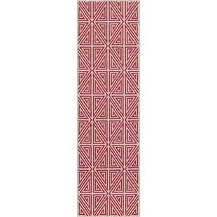 Halliday Red Trellis Indoor/Outdoor Area Rug