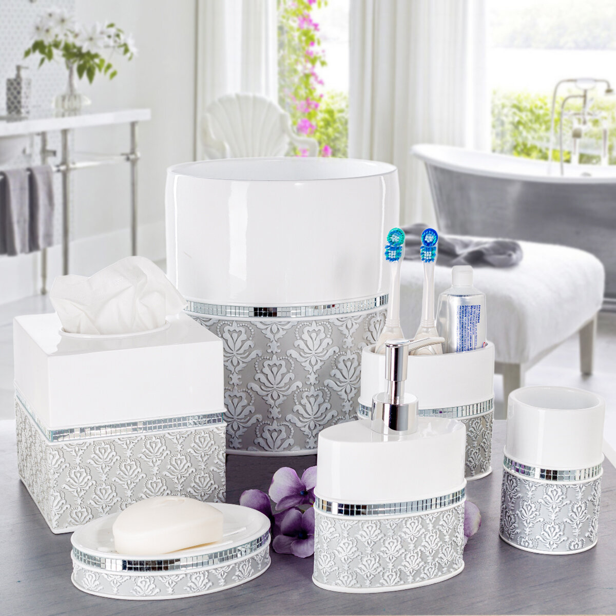 Creative Scents 6 Piece Bathroom Accessory Set & Reviews | Wayfair