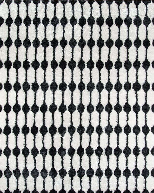 Stockings Hand Tufted Black/White Area Rug