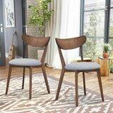 Ussery Side Chair in Walnut/Gray (Set of 2) by Corrigan Studio®
