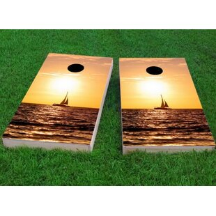 Custom Cornhole Boards Sailboat Cornhole Game (Set of 2)