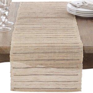 Nubby Texture Stripe Woven Table Runner