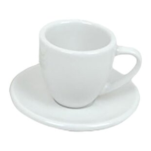Lundell 2 Oz Espresso Cup And Saucer Set Of 4