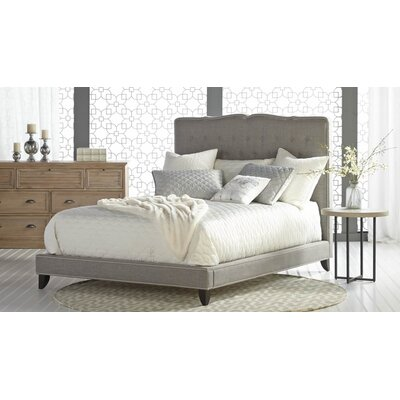 Wade Logan Littrell Upholstered Platform Bed & Reviews   Wayfair