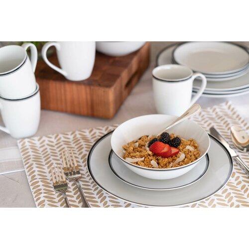 Wayfair Basics 16 Piece Porcelain Dinnerware Set Service For 4