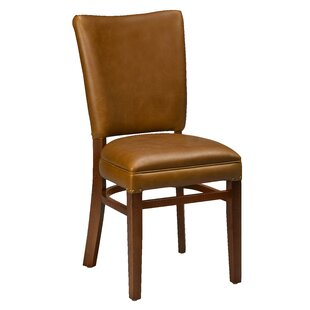 Chesebrough Beechwood Skirted Seat Upholstered Dining Chair Loon Peak