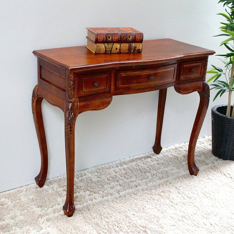 Astoria grand keiper hand carved wood indoor vanity desk & reviews