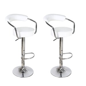 Stepney Adjustable Height Swivel Bar Stool (Set of 2)