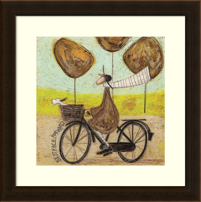 Latitude Run Best Face Forward (Bike) Framed Painting Print   Wayfair