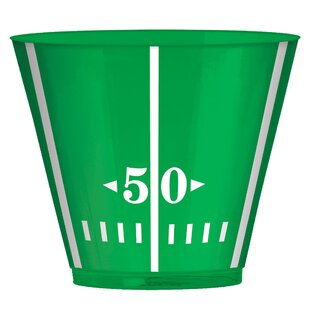 Football Field Plastic Disposable Tumbler (Set of 48)