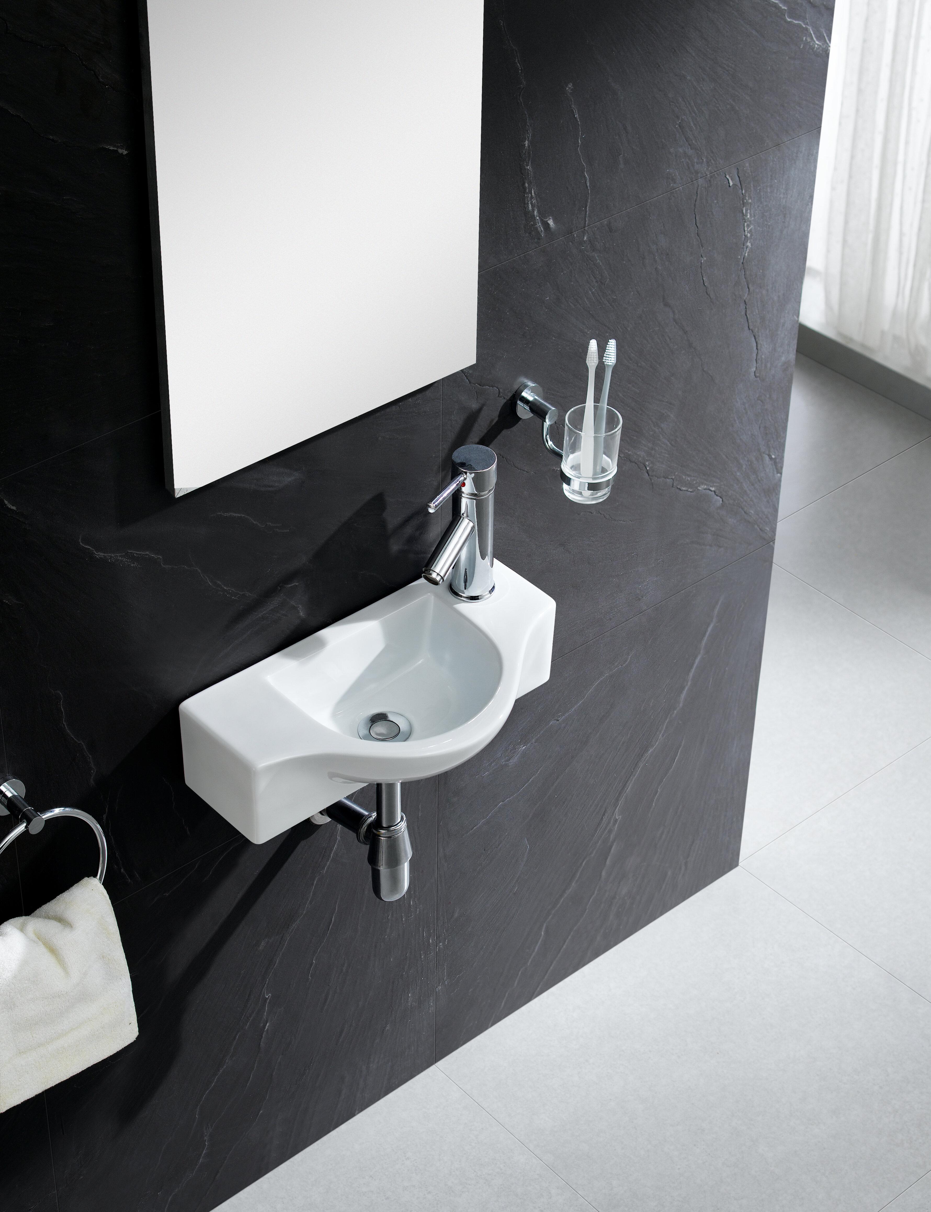 Fine Fixtures Modern Ceramic 18 Wall Mount Bathroom Sink Reviews Wayfair