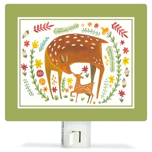 Oopsy Daisy Together Forever Deer by Irene Chan Canvas Night Light