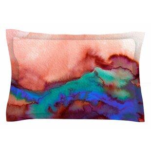 Ebi Emporium 'Winter Waves, Prismatic Vision' Watercolor Sham
