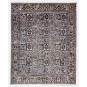 Savanna Bakhtiari Oriental Hand Woven Wool Green Area Rug