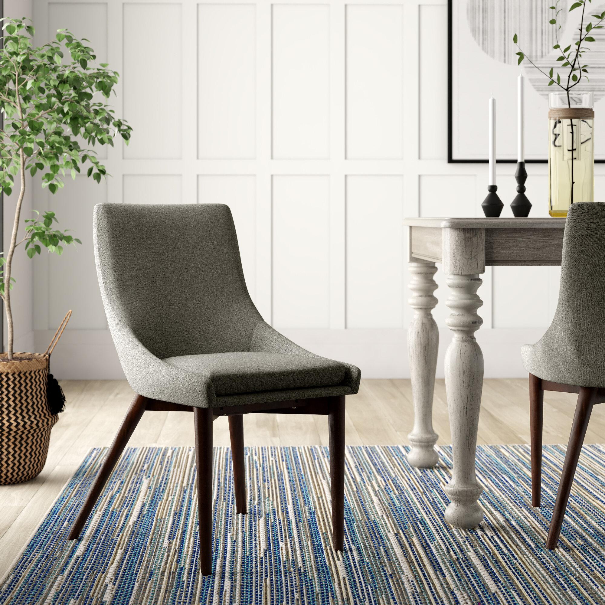 Casandra Upholstered Side Chair In Gray Reviews Joss Main