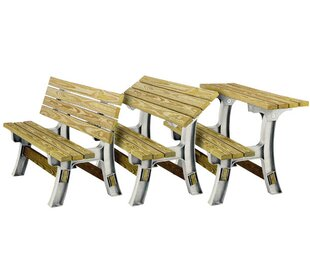 Flip-Top Plastic Convertible Bench