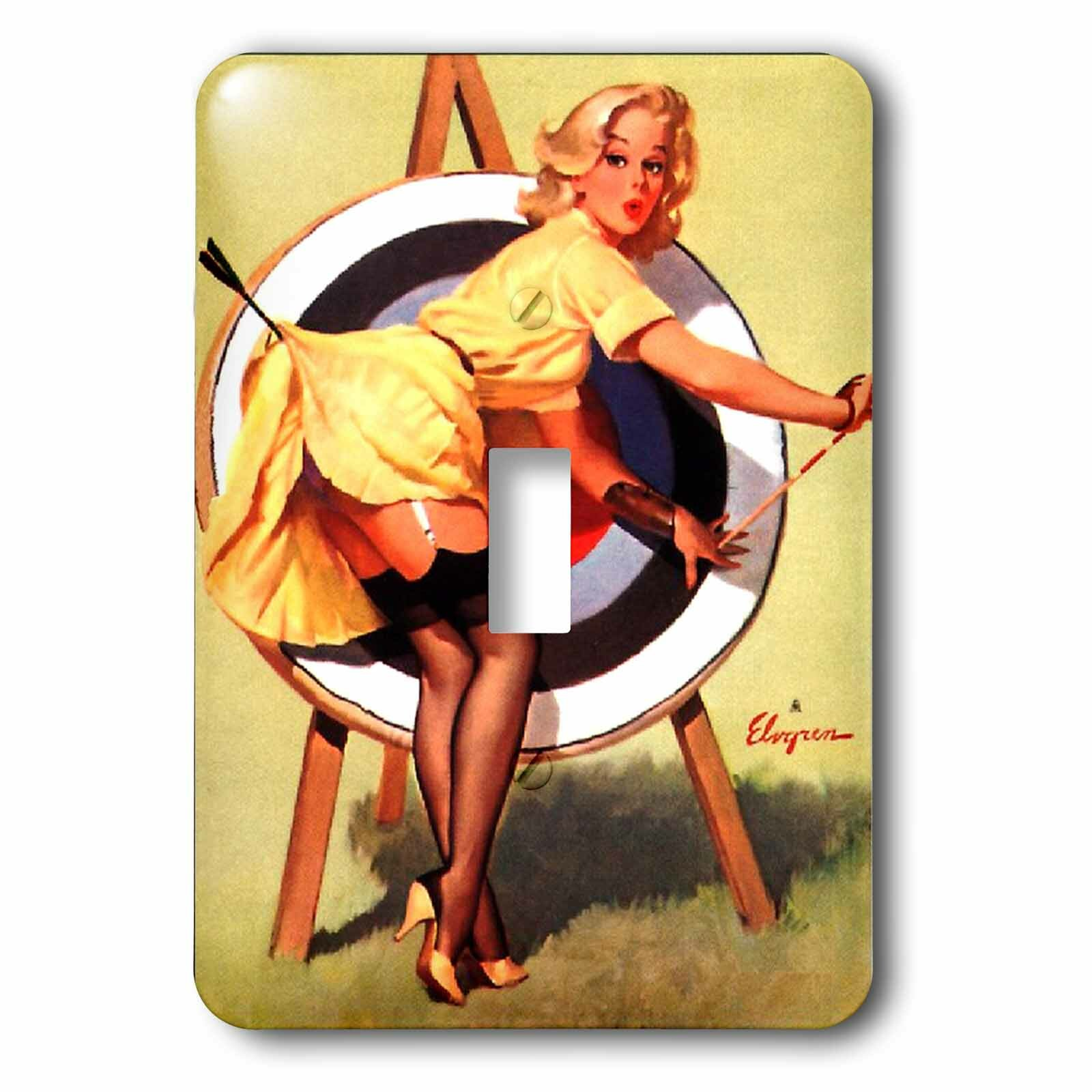 3drose Elvgren Pinup 1 Gang Toggle Light Switch Wall Plate Wayfair