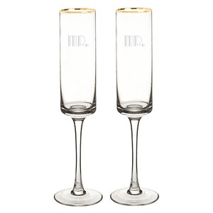 Gatsby 8 oz. Champagne Flute (Set of 2)