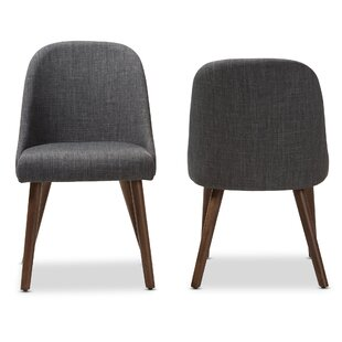 Croom Mid-Century Upholstered Dining Chair (Set of 2) by George Oliver
