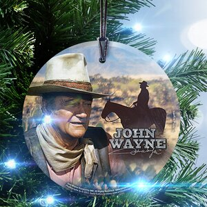 John Wayne (The Legend) StarFire Prints Glass Hanging Ornament