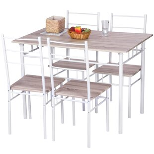 5 Piece Breakfast Nook Dining Set Merax