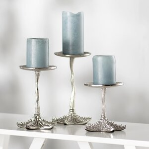 Starfish 3 Piece Candlestick Set