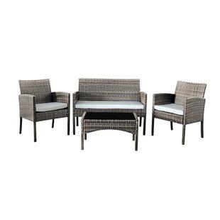 Karly 4 Seater Rattan Corner Sofa Set Image