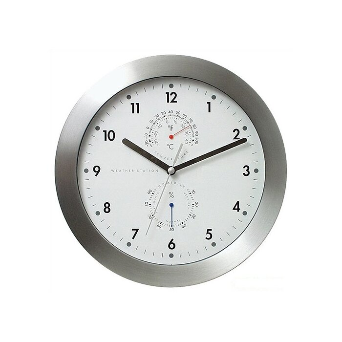 11 Weather Master Station Modern Wall Clock