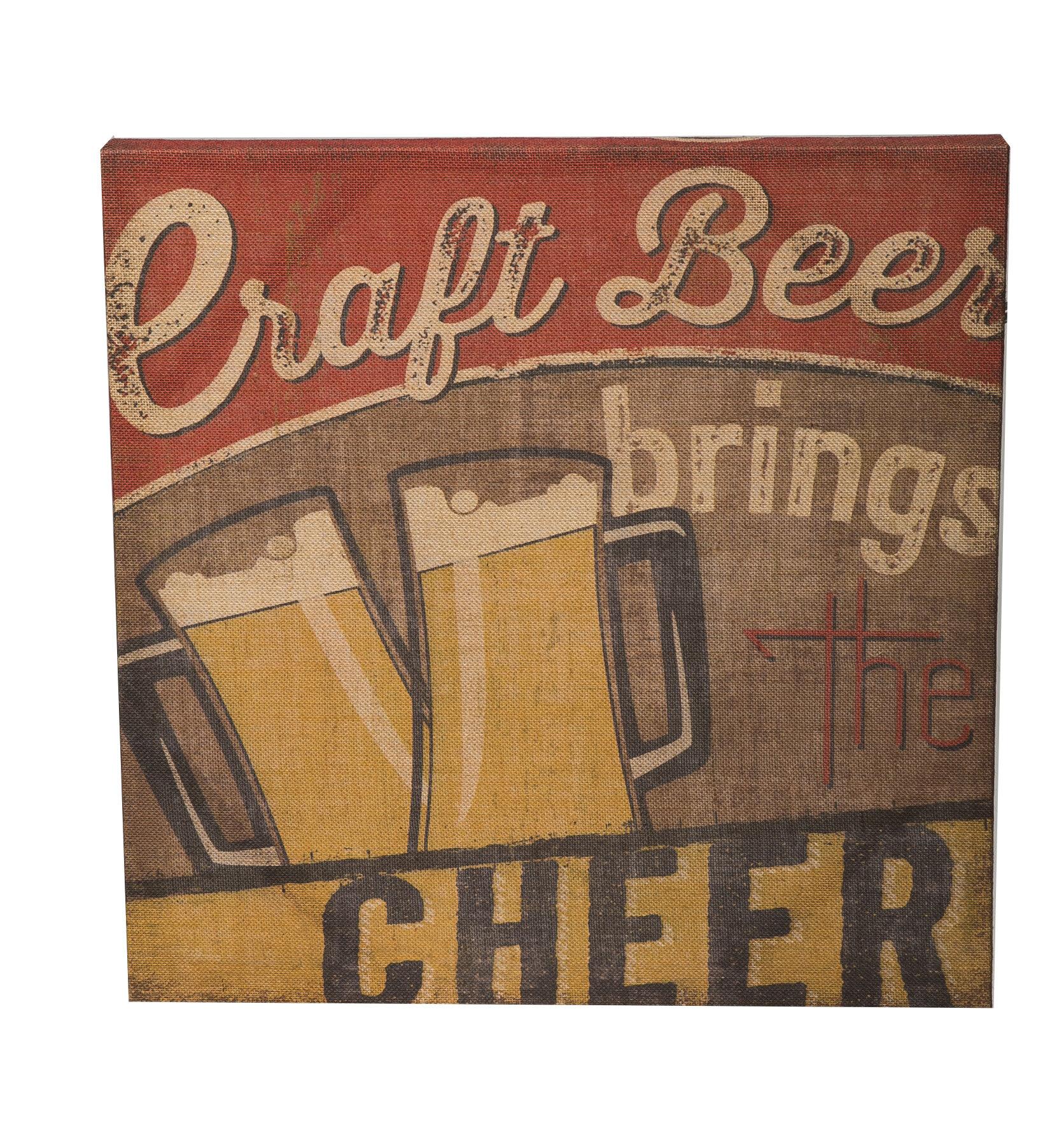 Evergreen Enterprises Inc Craft Brew Burlap By Pela Studio Vintage Advertisement On Canvas