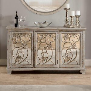 DeKalb Decorative Mirrored Console Table by Fleur De Lis Living