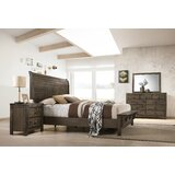 Teignmouth Sleigh 4 Piece Bedroom Set by Three Posts