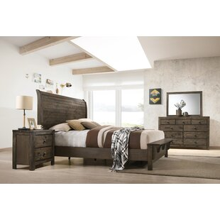 Teignmouth Solid Wood Sleigh 4 Piece Dresser Set