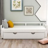 Ricci Twin Solid Wood Daybed with Trundle by Harriet Bee