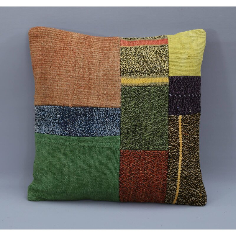 Rosalind Wheeler Léa Square Wool Pillow Cover And Insert Wayfair