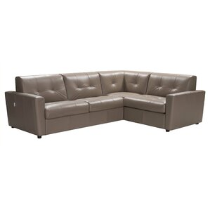 Ancram Leather Sectional by Red Barrel Studio