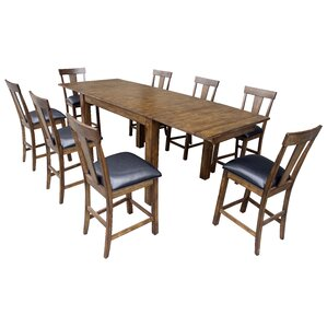 Alder Counter Height Extendable Dining Ta..