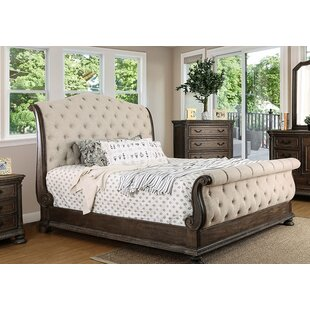 Astoria Grand Darvell Upholstered Sleigh Bed