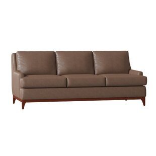 Filkins Leather Sofa By Union Rustic