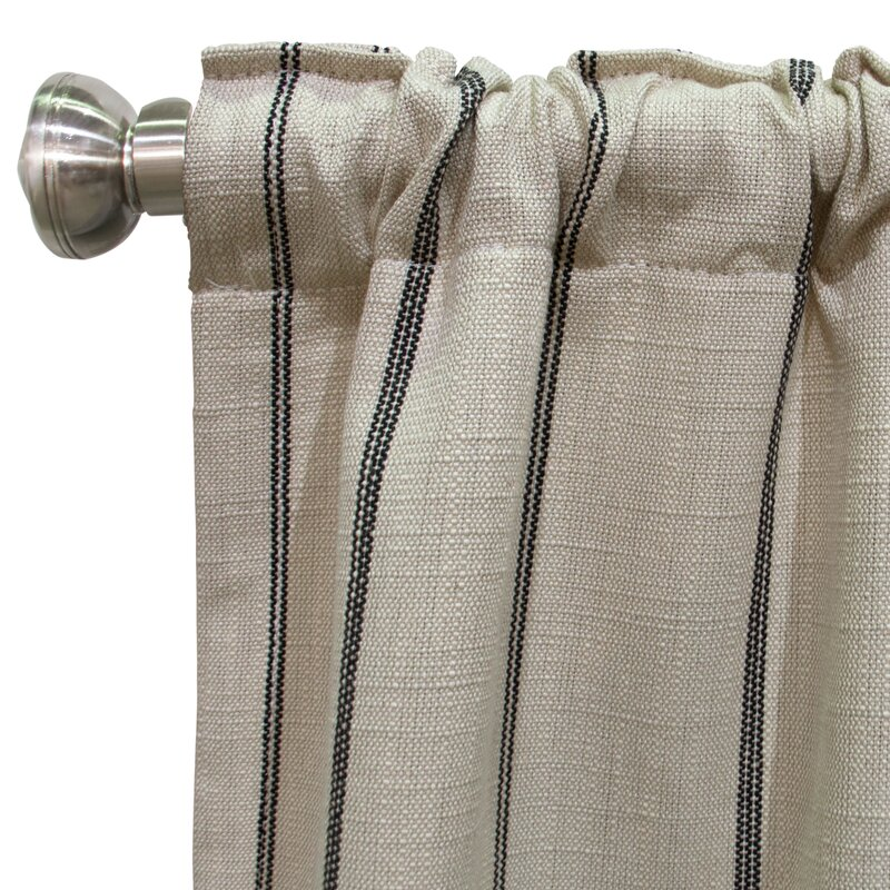 Skyline Furniture Unlined Striped Room Darkening Rod Pocket Single Curtain Panel Wayfair Ca