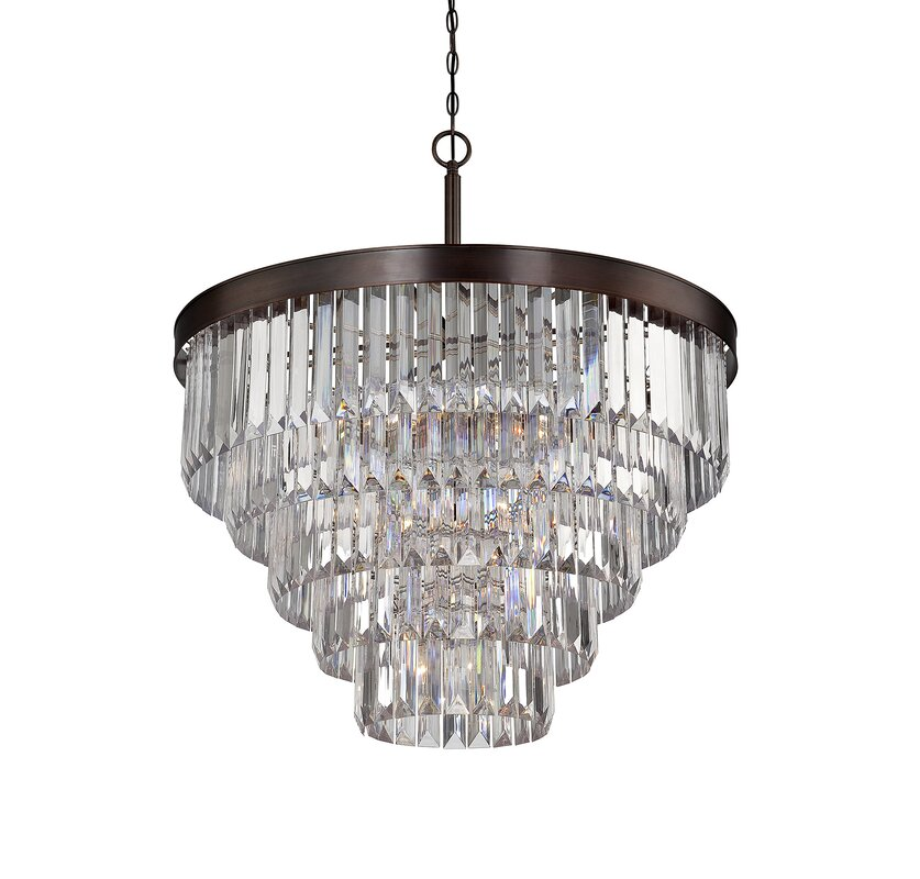 Dyanna 9 light crystal chandelier