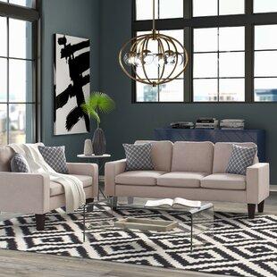 Abbey 2 Piece Standard Living Room Set by Mercury Row