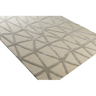 Buy luxury Blandon Hand-Tufted Neutral/Gray Area Rug By Wrought Studio