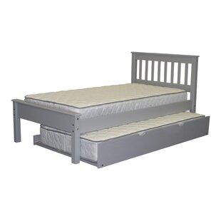 Treva Twin Slat Bed with Trundle ByHarriet Bee