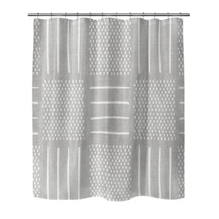 Affordable Adeline Geometric Shower Curtain By Mistana