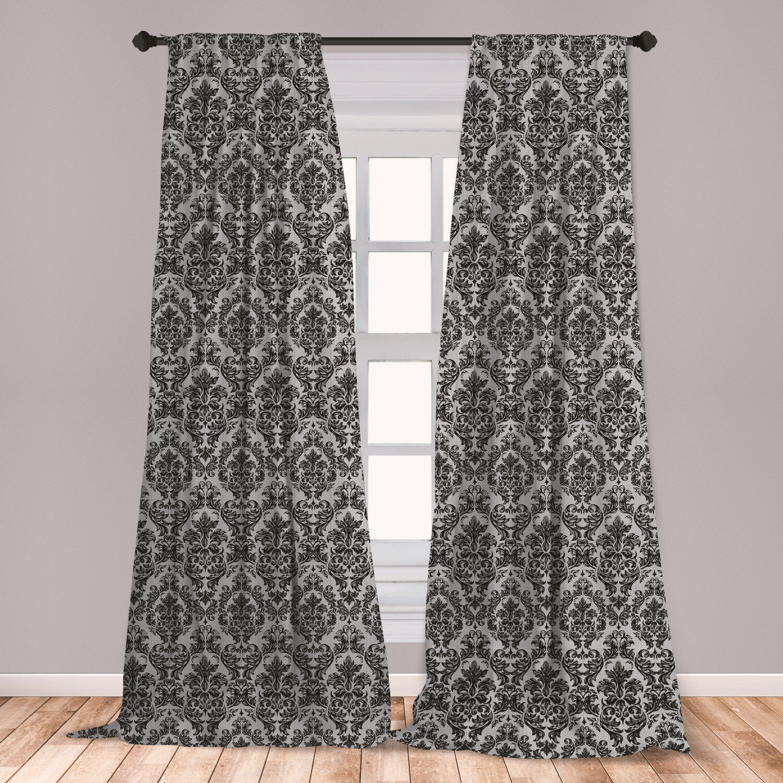 East Urban Home Baroque Room Darkening Rod Pocket Curtain Panels Wayfair
