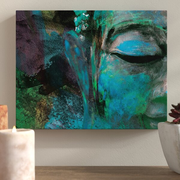 Buddha sitting on lotus and blessing Canvas Art Cheap Wall Print Any Size